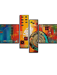 VISUAL STAR®Abstract Oil Painting Hand-Painted Canvas Wall Art Handmade Oil Painting Four Panels Ready to Hang