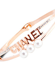 New product Han edition bracelet letters pearl bracelet for women fashion and personality bracelet