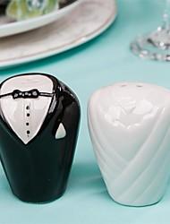Adorable Bride & Groom Salt & Pepper Shaker Favors TH008/B