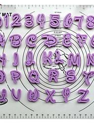 Fondantkuchen Dekorationswerkzeuge Cartoon font alphabet Schneider Anzahl Briefe Lutter gesetzt Kunststoff Ausstecher Set von 36