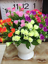High Quality Artificial Flowers for Home Decoration Bright Color Carnations Silk Flower for Mather's Day Decorations