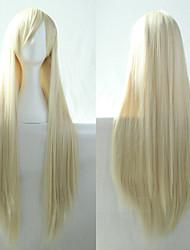 nouvelle bleach anime cosplay blond longue ligne droite de 80cm perruque de cheveux