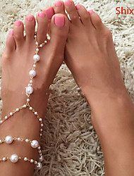 Women's Anklet/Bracelet Pearl Imitation Pearl Alloy Fashion Golden Women's Jewelry Daily Casual 1pc