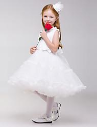 Flower Girl Dress Knee-length A-line Sleeveless Dress