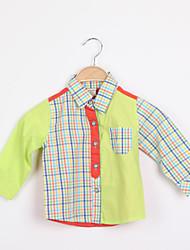 Katoenmix-Zomer / Lente-Boy's-Overhemd