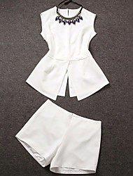 Women's White Blouse Sleeveless