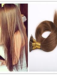 3pcs / lot 1g / s 100g / pc 100% brésiliens extensions de cheveux humains vierges doux i Astuce extension de cheveux pré-collé en stock
