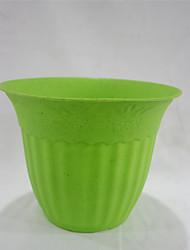 "shengerda 6.8 ""color rodada vaso de plástico, seis vasos de flores para um conjunto"