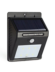 6LED Solar Power PIR Motion Sensor Wall Light Outdoor Waterproof Garden Lamp