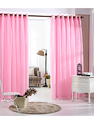 Country Curtains® One Panel Pink Solid Double Layer Curtain Drape