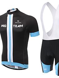 WEST BIKING® Men's Mountain Bike Clothing Bib Suit Breathable Black Yellow Wicking Cycling Clothing Bib Short Suit