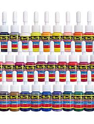 28 × 5 ml Cores variedades Tintas de tatuagem clássico pigmento da tatuagem Jogo de cor cores de maquiagem