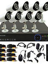TWVISION® 8CH 960H HDMI CCTV DVR 8x Outdoor 800TVL Security Camera System