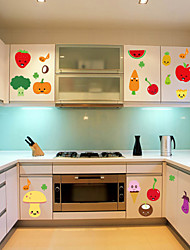 stickers muraux de style de décalques muraux de cuisine fruits décoration autocollants pvc
