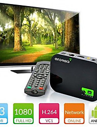 rsh allwinnner a20 dual core 1 gb / 4gb set-top box de vídeo gratuito para download da xbmc, suporte Miracast&Webcam&3d blueray