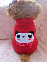 Hunde - Winter - Fasergemisch Rot - Pullover - XS / S / M / L