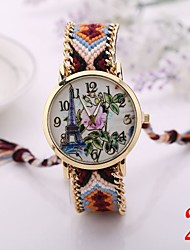 I&VY  New Arrive  Handmade Rope Bracelet    Watches Women Knitted Colorful Quartz Casual Wristwatch Nation Bracelet