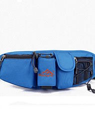 Women Nylon Sports / Outdoor Waist Bag Blue