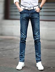classica slim fit jeans gamba pantaloni da uomo