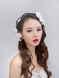 Bride's Flower Shape Pearl Forehead Wedding Veil Headdress  1 PC