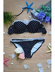 Damen Bikinis  -  Punkt Push-Up/Bügel-BH Polyester Halfter