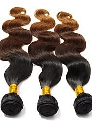Menschenhaar spinnt Eurasisches Haar Natürlich gewellt 3 Stück Haar webt