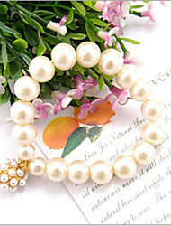 Lucky Doll Women's Fashion wild pearl ball beaded bracelet