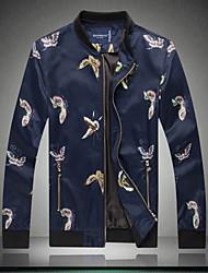 Men's Large Size Coat Jacket Chinese wind flower jacket bigger sizes Fatty Jacket