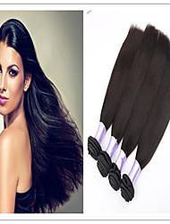 3Pcs/Lot Wholesale Hair Products Brazilian Virgin Hair Straight Brazilian Human Hair Weave Brazilian Straight Hair