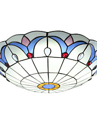 BOXOMIYA® The Diameter of 50Cm Ceiling Lamp Tiffany Lamp European LED Bedroom Garden Lighting Lamps
