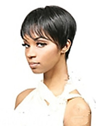 New Arrival Black 1B Color Short Straight  Hair Wig Capless Synthetic Wigs  Natural Sexy Daily Wig