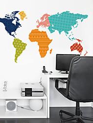 stickers muraux stickers muraux, les couleurs créatives carte sticker mural PVC