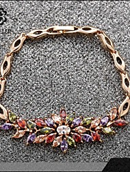 Sjeweler Girls Lady's Beautiful Style Colorful Zircon Bracelet