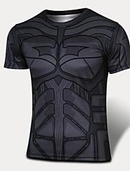 Course Tee-shirt Homme Manches courtes Respirable / Séchage rapide / Vestimentaire / Limite les Bactéries / Anti-transpiration Polyester