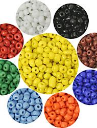 beadia 90g (ca. 6000pcs) 2mm runden Rocailles 9 Farben u-pick Glas Pony Perlen DIY Zubehör