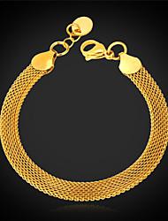 u7® ouro 18k preenchido Figaro trançado pulseira elo da cadeia pipoca para mulheres dos homens 5 milímetros 21 centímetros