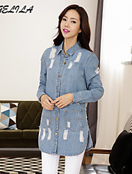 Women's  Long Jeans Coat