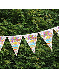 New Arrival Wedding  Paper Banner Bunting with Birthday Cake