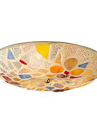 BOXOMIYA® Shell Ceiling Lamp Diameter of The Mediterranean Restaurant 40cm Warm Bedroom Lamp LED