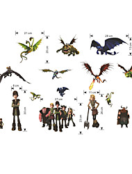 Wall Stickers Wall Decals, Cartoon Cool How to Train Your Dragon PVC Wall Sticker