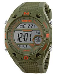 Мужской Наручные часы Цифровой LCD / Календарь / Секундомер / Защита от влаги / тревога / Спортивные часы Pезина Группа Черный / Зеленый