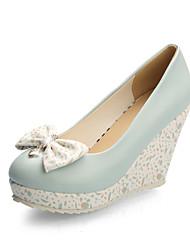 Women's Shoes Wedge Heel Wedges/Round Toe Pumps/Heels Dress Blue/Pink/White