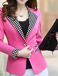 Women's Casual Work Medium Long Sleeve Regular Blazer (Polyester)