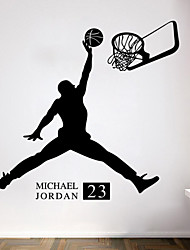 Wall Stickers Wall Decals Style Basketball Jordan PVC Wall Stickers