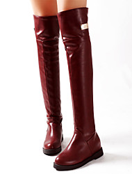 Women's Shoes Wedge Heel Round Toe Over the Knee  Boots More Colors available