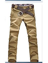 MEN - Pantaloni - Informale A vita medio-alta - Attivo Misto cotone
