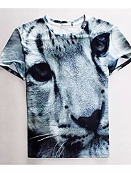 Women's High Quality Creative Special  Animal Funny Leisure Summer Breathable 3D Style T-Shirt——The Small Leopard
