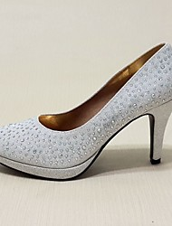 Women's Spring Summer Fall Winter Leatherette Wedding Casual Party & Evening Stiletto Heel Sequin Sparkling Glitter Red Silver Gold