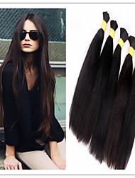 3pcs muito cabelo humano / 100% para trançar a granel não há extensões de cabelo apego a granel, sem qualquer processamento atacado