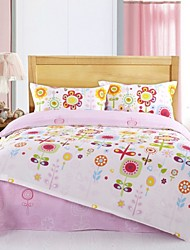 Lovely Pink Flower Cotton Bedding Set of 4pcs Queen Size